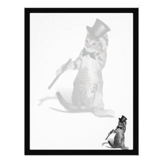 You make me feel like Dancing! Tap Dancing Cat Custom Flyer
