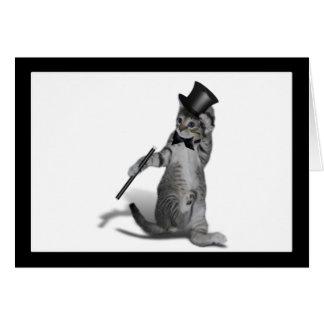 You make me feel like Dancing! Tap Dancing Cat Greeting Card