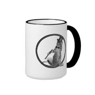You make me feel like Dancing! Tap Dancing Cat Ringer Coffee Mug
