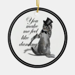 You make me feel like Dancing! Tap Dancing Cat Double-Sided Ceramic Round Christmas Ornament