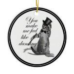 You make me feel like Dancing! Tap Dancing Cat Christmas Ornament