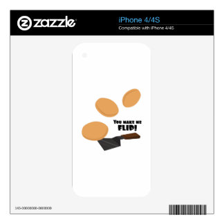 You Make Me FLip! iPhone 4S Decal