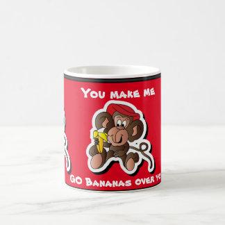 You Make Me Go Bananas Valentine Classic White Coffee Mug