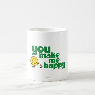 You Make Me Happy Classic White Coffee Mug