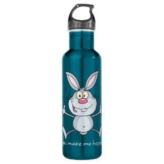 You Make Me Hoppy Bunny Rabbit 24oz Water Bottle