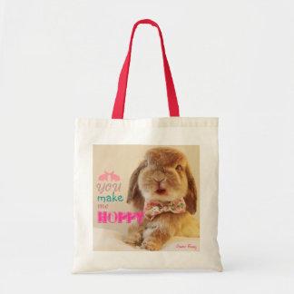 You make me hoppy tote bag