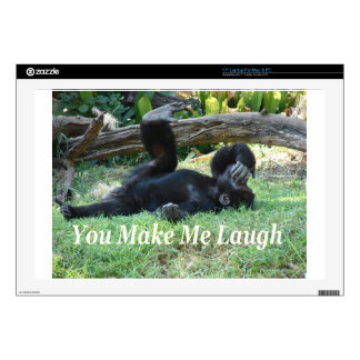"""""""You Make Me Laugh"""" by Carter L. Shepard"""" 17"""" Laptop Decal"""