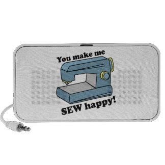 You make me Sew Happy Laptop Speakers