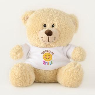 You Make Me Smile (Emoji) Teddy Bear