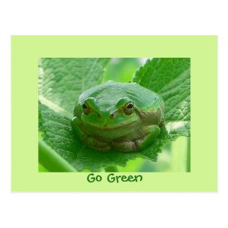 You make me smile - frog card - Customized Postcard