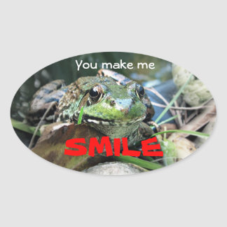 You make me smile. oval sticker