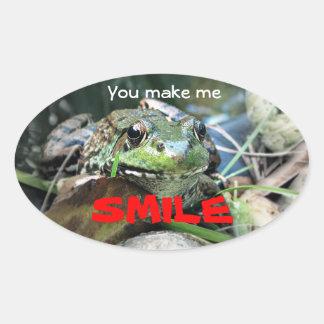 You make me smile. oval sticker