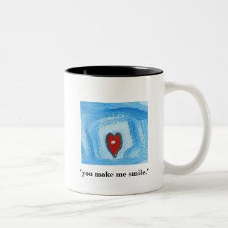 YOU MAKE ME SMILE Two-Tone COFFEE MUG