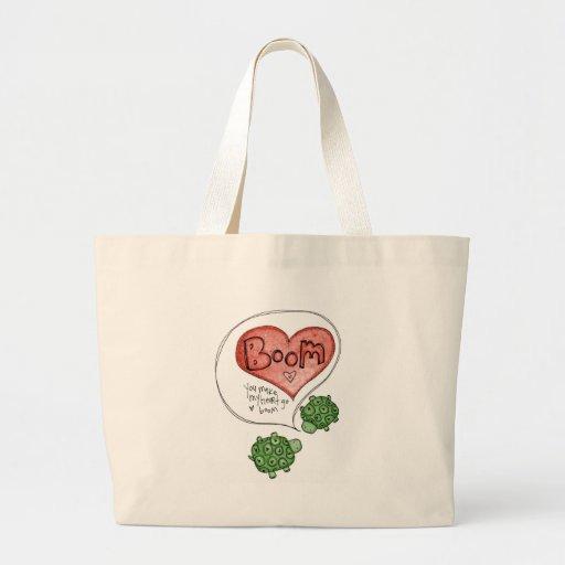 you make my heart canvas bag