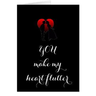 """""""YOU MAKE MY HEART FLUTTER"""" CARD"""