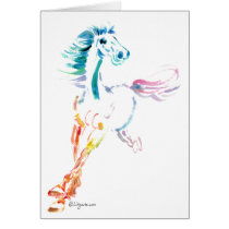 You Make My Heart Gallop- Rainbow Romping Horse Card