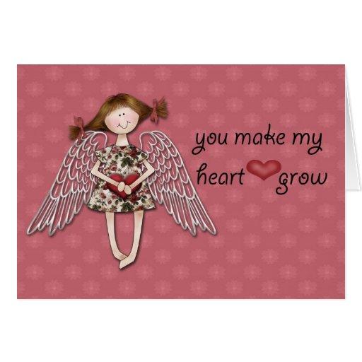 You Make My Heart Grow Greeting Card