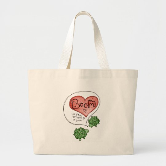 you make my heart large tote bag