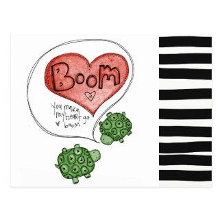 you make my heart postcard