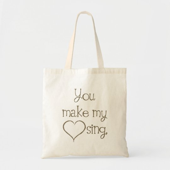You Make My Heart Sing Canvas Tote Bag