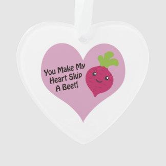 You Make My Heart Skip A Beet Ornament