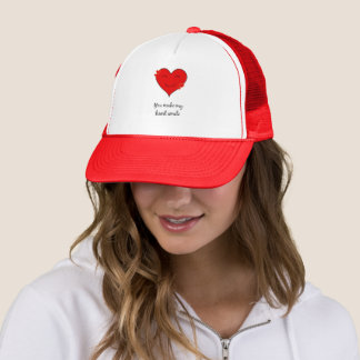 You make my heart smile trucker hat