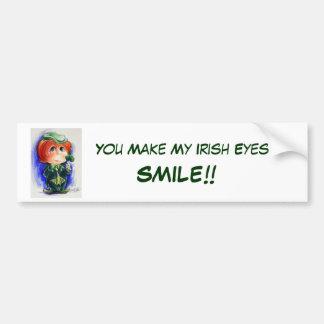 You Make My Irish Eyes Smile!! Bumper Sticker Car Bumper Sticker