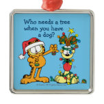 You Make the Holidays Happier Square Metal Christmas Ornament