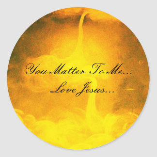 You Matter To Me Classic Round Sticker