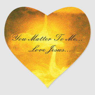 You Matter To Me Heart Sticker