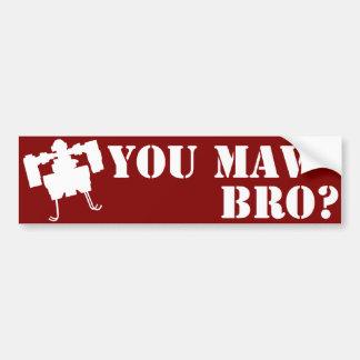 You MAV Bro? Bumper Sticker in Red