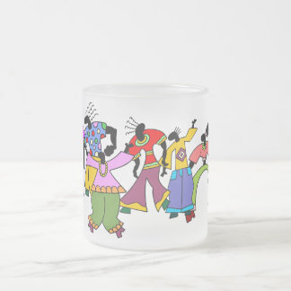 You May As Well Dance! Frosted Glass Coffee Mug