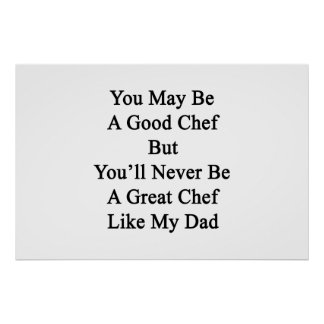 You May Be A Good Chef But You'll Never Be A Great Poster