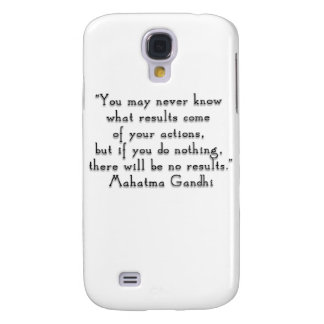 """""""You may never know what results..."""" Gandhi quote Samsung Galaxy S4 Cases"""