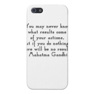 """""""You may never know what results..."""" Gandhi quote iPhone 5/5S Covers"""