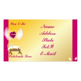You Me And Jesus Celebrate Love-Customize Business Card Templates