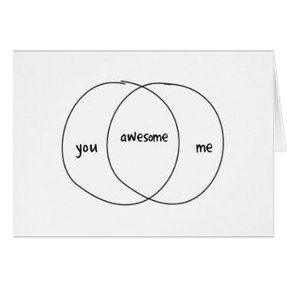You Me Awesome Venn Diagram Greeting Cards