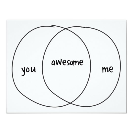You Me Awesome Venn Diagram Card