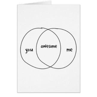 You Me Awesome Venn Diagram Greeting Card