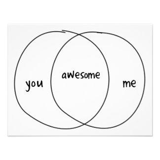 You Me Awesome Venn Diagram Personalized Invite