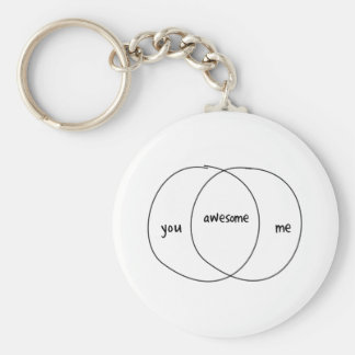 You Me Awesome Venn Diagram Keychain