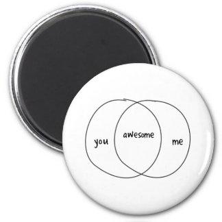 You Me Awesome Venn Diagram Refrigerator Magnets