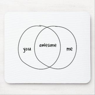You Me Awesome Venn Diagram Mousepad