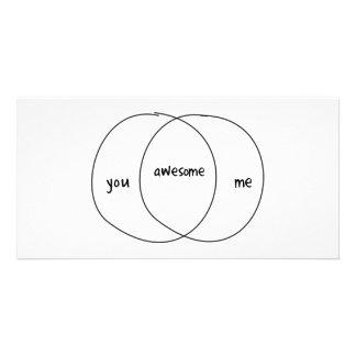 You Me Awesome Venn Diagram Photo Cards