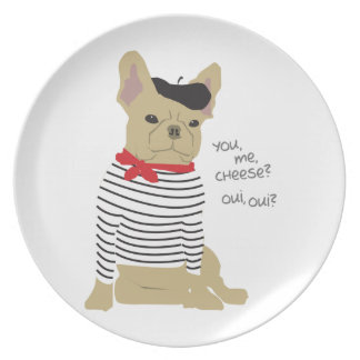 You, me, cheese? dinner plate