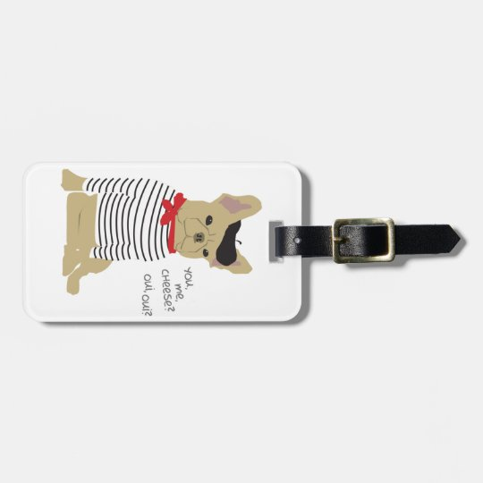 You, me, cheese? luggage tag