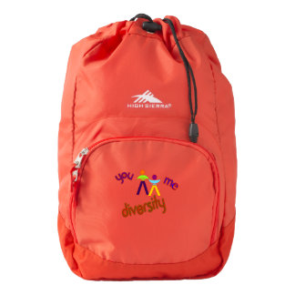 You Me Diversity Add Your Own Logo Custom Backpack