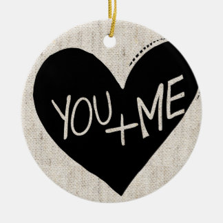 YOU + ME faux sweater ornament