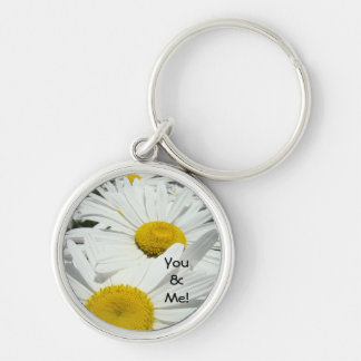 You & Me! keychain Daisy Flowers White Daisies