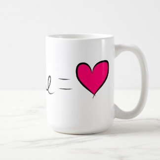 You & Me  = Love Coffee Mugs
